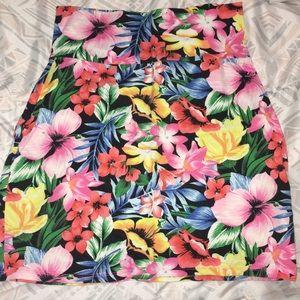 PINK Tropical theme pencil skirt